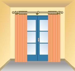 La barra de las cortinas