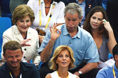 Bush ebrio en las Olimpiadas