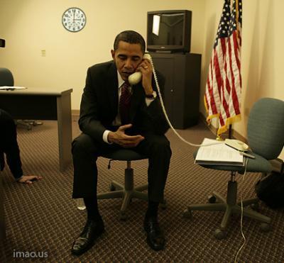 ¿Estaría hablando Barack Hussein Obama con el Reverendo Wright?